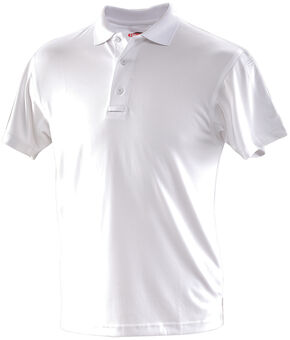Tru-Spec Men's 24-7 Series Performance Polo Shirt, White, hi-res