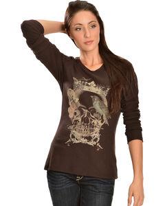 Ariat Women's Queen Slub Long Sleeve Tee Shirt, , hi-res