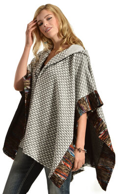 Flying Tomato Women's Knit Hooded Cape, , hi-res