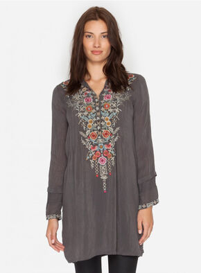 Johnny Was Women's Grey Arianna Tunic , Grey, hi-res