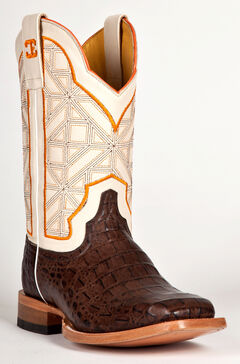 Cinch Men's Caiman Print Western Boots - Square Toe, , hi-res