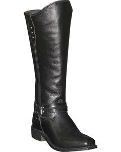 Abilene Women's Black Equestrian Wellington Boots - Square Toe  , , hi-res