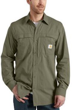 Carhartt Force Mandan Solid Long Sleeve Shirt, , hi-res