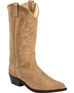 Old West Roughout Suede Cowboy Boots, , hi-res