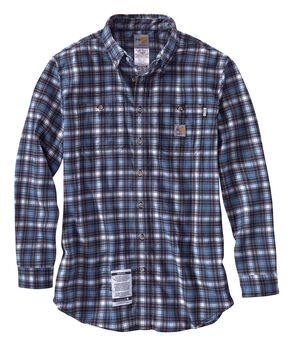 Carhartt Flame Resistant Classic Plaid Shirt, Blue, hi-res