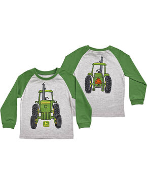 John Deere Toddler Boys' Big Tractor Long Sleeve T-Shirt , Grey, hi-res