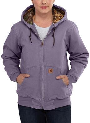 Carhartt Women's Sandstone Active Camo-Lined Jacket, Purple, hi-res