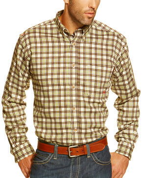 Ariat Men's Fire-Resistant Buford Plaid Long Sleeve Work Shirt, Multi, hi-res