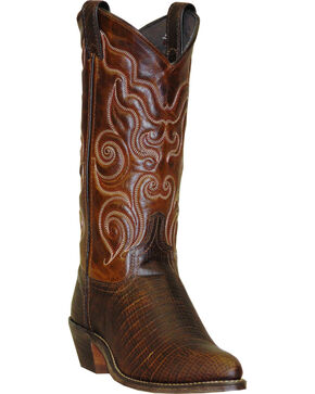 Abilene Brown Teju Lizard Print Cowgirl Boots - Round Toe , Brown, hi-res
