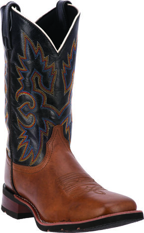 Laredo Men's Salt Lick Western Boots - Square Toe, Saddle Tan, hi-res