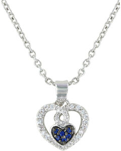Montana Silversmiths Curlicued Cerulean Heart Necklace, , hi-res
