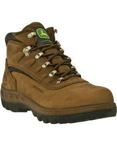John Deere Men's Waterproof Hiker Work Boots - Steel Toe, , hi-res