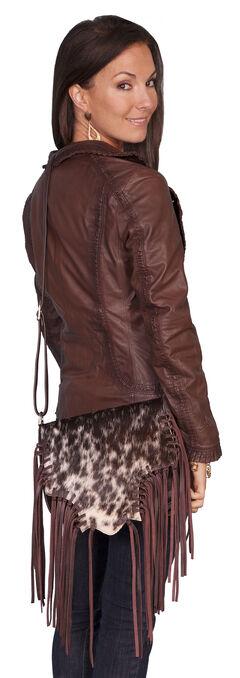Scully Hair-on-Hide Calf Fringe Shoulder Bag, , hi-res