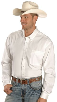 Cinch ® Solid Weave White Shirt - Big & Tall, , hi-res