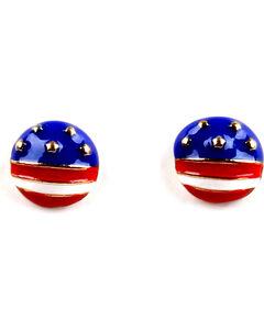 Ethel & Myrtle American Spirit Button Earrings , , hi-res