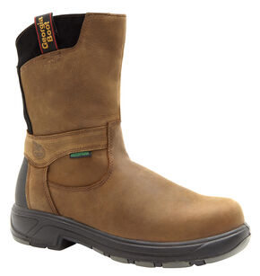 Georgia Flxpoint Waterproof Work Boots - Safety Toe, Brown, hi-res
