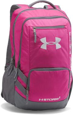Under Armour Girls' Tropic Pink Storm Hustle II Backpack , , hi-res