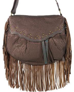 Way West Women's Hannah Fringe Crossbody Bag, Brown, hi-res