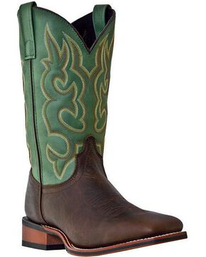 Laredo Basic Stockman Cowboy Boots - Square Toe, Brown, hi-res