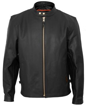 Interstate Leather Vented Touring Jacket - Big & Tall, Black, hi-res