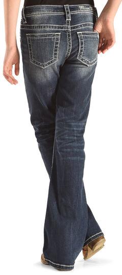 Miss Me Girls' Indigo Plain Jeans - Boot Cut , , hi-res