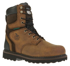 "Georgia Brookville Waterproof 8"" Work Boots, , hi-res"