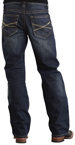 "Stetson Modern Fit Classic ""X"" Stitched Jeans, , hi-res"