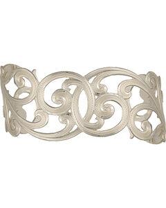 Montana Silversmiths Western Lace Scallop Cuff Bracelet, , hi-res