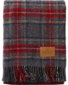 Pendleton Charcoal Stewart Carry Along Motor Robe Blanket, Multi, hi-res