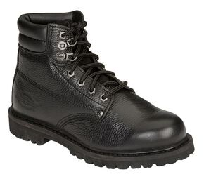 "Dickies Men's Raider 6"" Lace-Up Work Boots - Steel Toe, Black, hi-res"