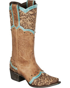 Lane Kimmie Embroidered Cowgirl Boots - Snip Toe, , hi-res