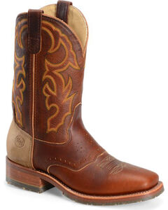 Double H Men's Snakebite Saddle Vamp Western Boots - Square Toe , , hi-res