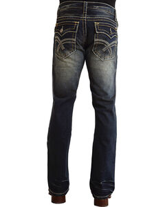 "Stetson Rock Fit Curved ""X"" Stitched Flap Pocket Jeans - Big & Tall, , hi-res"