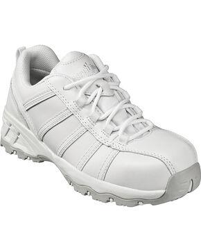 Nautilus Women's White Metal Free Athletic Work Shoes - Composite Toe , White, hi-res
