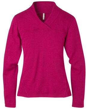 Mountain Khakis Women's Rendezvous Micro Wrap Neck Shirt, Burgundy, hi-res