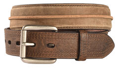 Ariat Distressed Striped Leather Belt, , hi-res