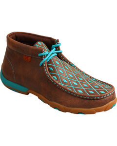 Twisted X Women's Turquoise Diamond Driving Mocs - Moc Toe, , hi-res