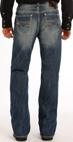 Rock and Roll Cowboy Double Barrel Abstract V Jeans - Boot Cut , , hi-res