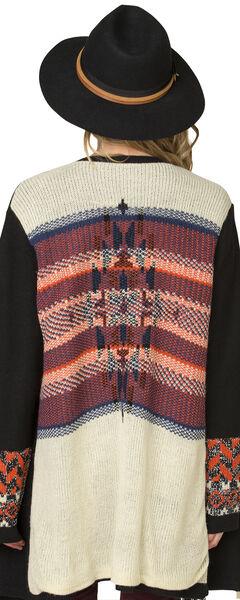 Miss Me Women's Aztec Oversized Cardigan, Black, hi-res