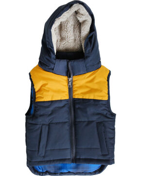 Cody James Toddler Boys' Hooded Puffer Vest , Navy, hi-res