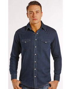 Rough Stock by Panhandle Slim Men's Navy Newbridge Vintage Western Shirt , , hi-res