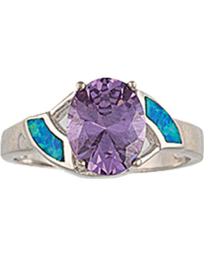 Montana Silversmiths River Lights Amethyst Pool Ring, Silver, hi-res