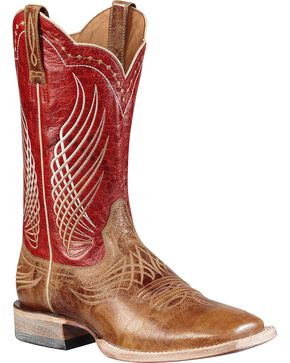 Ariat Mecate Cowboy Boots - Square Toe, Tan, hi-res