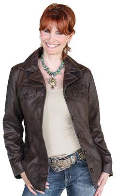 STS Ranchwear Women's Selah Brown Leather Jacket, , hi-res