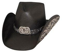 Bullhide Cowgirl Fantasy Black Straw Cowgirl Hat, , hi-res