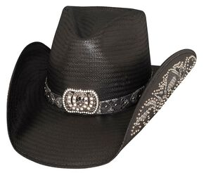 Bullhide Cowgirl Fantasy Black Straw Cowgirl Hat, Black, hi-res