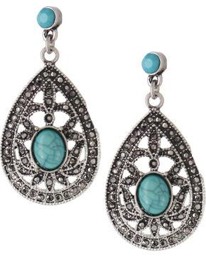 Shyanne Women's Vintage Teardrop Earrings , Silver, hi-res
