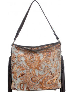 Montana West Western Aztec Collection Turquoise Handbag, , hi-res