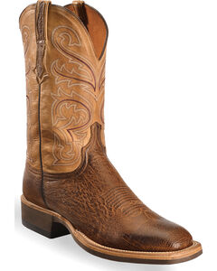 Lucchese Men's Light Brown Lance Smooth Ostrich Boots - Square Toe , , hi-res