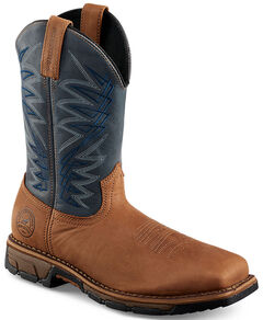 Red Wing Irish Setter Navy Blue Marshall Work Boots - Soft Square Toe , , hi-res
